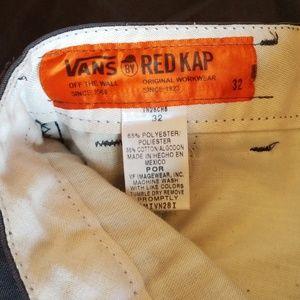 Vans Other - RED CAP VANS SHORTS